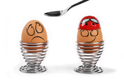 Funny eggs Stock Photography