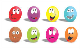 Funny eggs Royalty Free Stock Photo