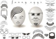 Funny eggs. Stock Images