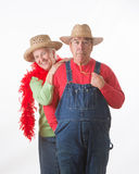 Funny Elderly Couple Royalty Free Stock Images
