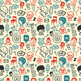 Funny element seamless pattern Stock Photo