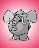 Funny elephant. Cartoon style illustration - Funny elephant Stock Photo