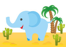 Funny elephant in Africa. Funny smiling elephant in Africa Stock Image