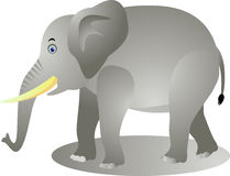 Funny elephant cartoon Stock Image
