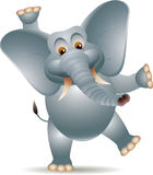 Funny elephant cartoon Royalty Free Stock Image