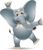 Funny elephant cartoon. Vector illustration of funny elephant cartoon Royalty Free Stock Image