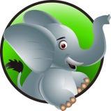 Funny elephant cartoon. Vector illustration of funny elephant cartoon Stock Image
