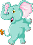 Funny elephant cartoon. Illustration of funny elephant cartoon Royalty Free Stock Photo