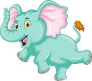 Funny elephant cartoon. Illustration of funny elephant cartoon Stock Photos