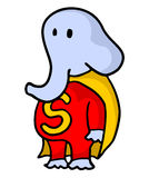 Funny elephant hero Stock Images