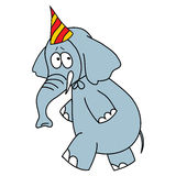 Funny elephant vector character on a white Stock Image