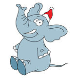 Funny elephant vector character on a white Royalty Free Stock Image