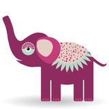 Funny elephant on a white background.  Stock Photo