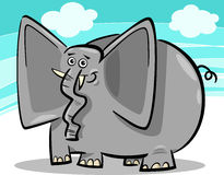 Funny elephants cartoon against sky Royalty Free Stock Photos