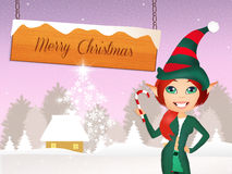 Funny elf at Christmas Royalty Free Stock Photography