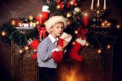 Funny elf Stock Photo