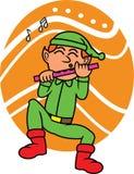 Funny Elf Playing Flute Cartoon Royalty Free Stock Photos