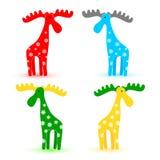 Funny elks. Vector set of funny elks Stock Images