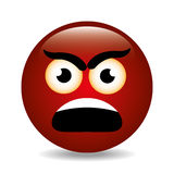 Funny emoticon cartoon design. Royalty Free Stock Photo