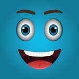 Funny emoticon cartoon design Royalty Free Stock Photography