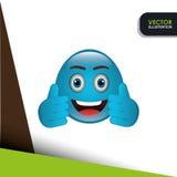 Funny emoticon design. Illustration eps10 graphic Stock Photo