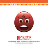 Funny emoticon design. Illustration eps10 graphic Stock Image