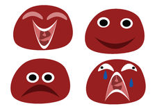 Funny emoticons stock photo