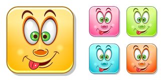 Funny Emoticons Collection Stock Photo