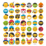Funny emoticons design. Set with 49 different careers Stock Images