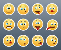 Funny emoticons grimace Royalty Free Stock Photo