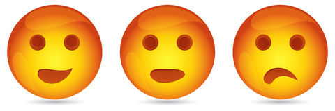 Funny emoticons Stock Images