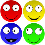 Funny emoticons Royalty Free Stock Images