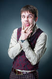Funny emotional young man Royalty Free Stock Photo