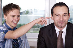 Funny employee Stock Photography