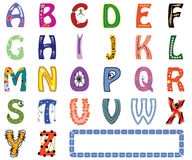 Funny English alphabet Royalty Free Stock Images