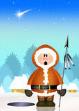Funny eskimo Stock Image