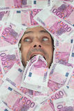 Funny Euro Man Royalty Free Stock Photo