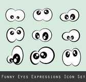 Funny Eves Expression Set. Abstract Funny Eves Expression Set Royalty Free Stock Photography