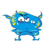 Funny evil monster Royalty Free Stock Photo