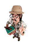 Funny explorer or archeologist Royalty Free Stock Photos