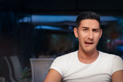 Funny Expressive Man Screaming Desperate Royalty Free Stock Photo