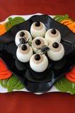 Funny eye eggs on Halloween Royalty Free Stock Photos