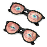 Funny eyeglasses Stock Photos