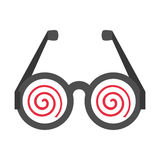 Funny eyeglasses april fools. Illustration eps 10 Royalty Free Stock Photography