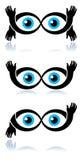Funny eyes. Isolated illustrated logo design royalty free illustration