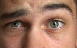Funny eyes of a man Stock Photos