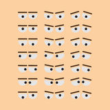 Funny eyes set. Royalty Free Stock Photos