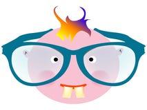 Funny face stock illustration