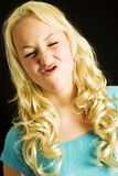 Funny face. Funny dutch girl royalty free stock photos