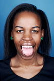 Funny face african woman Royalty Free Stock Image
